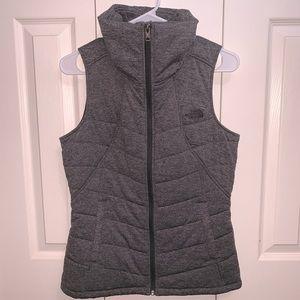 The North Face gray winter vest